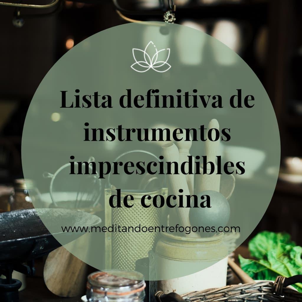 instrumentos imprescindibles de cocina