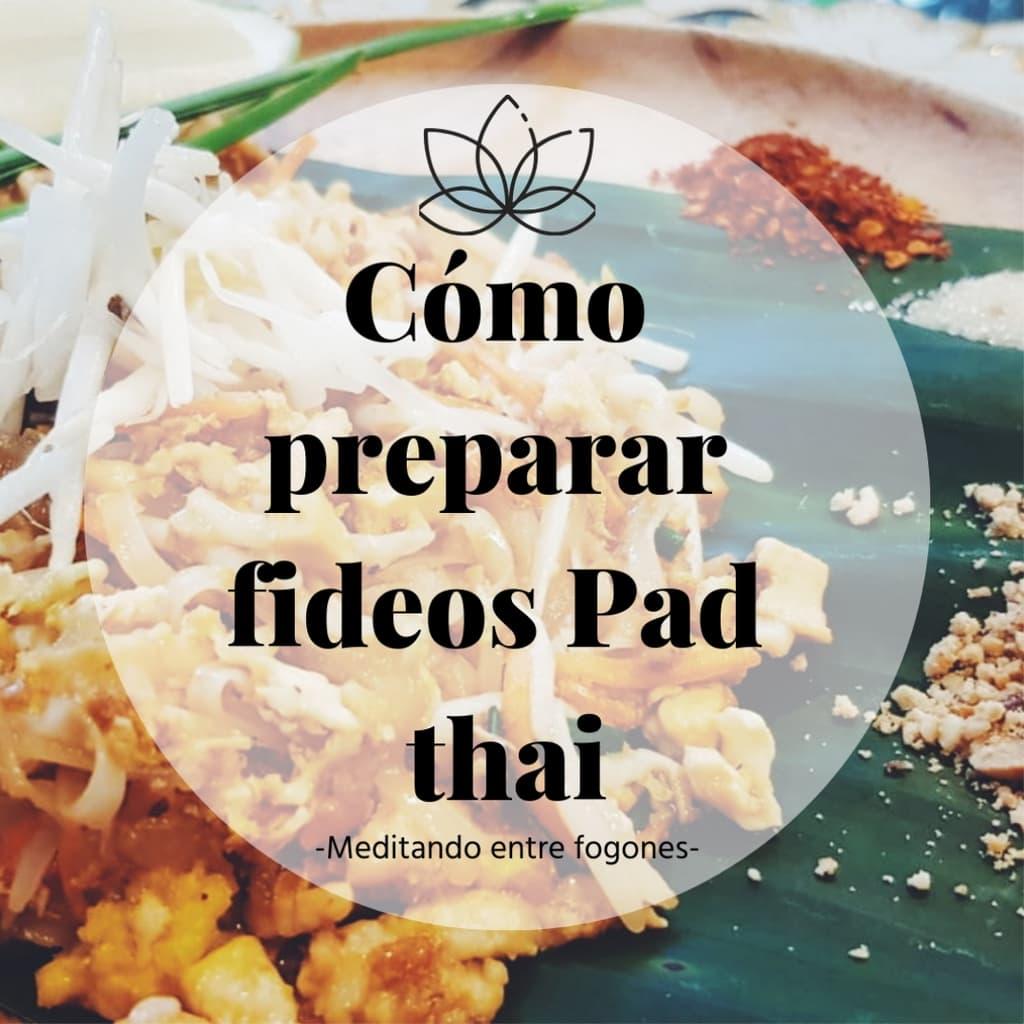receta de fideos pad thai