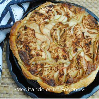 receta tarta de manzana ligera