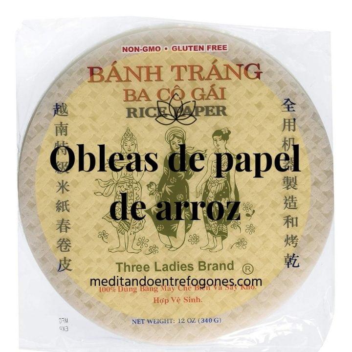 Introducción a la cocina asiática: guía de ingredientes: obleas de papel de arroz