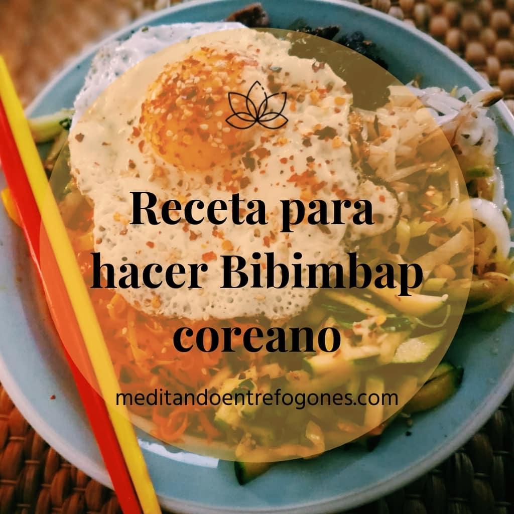 receta bibimbap coreano