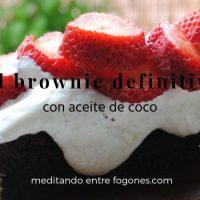 Brownie con aceite de coco