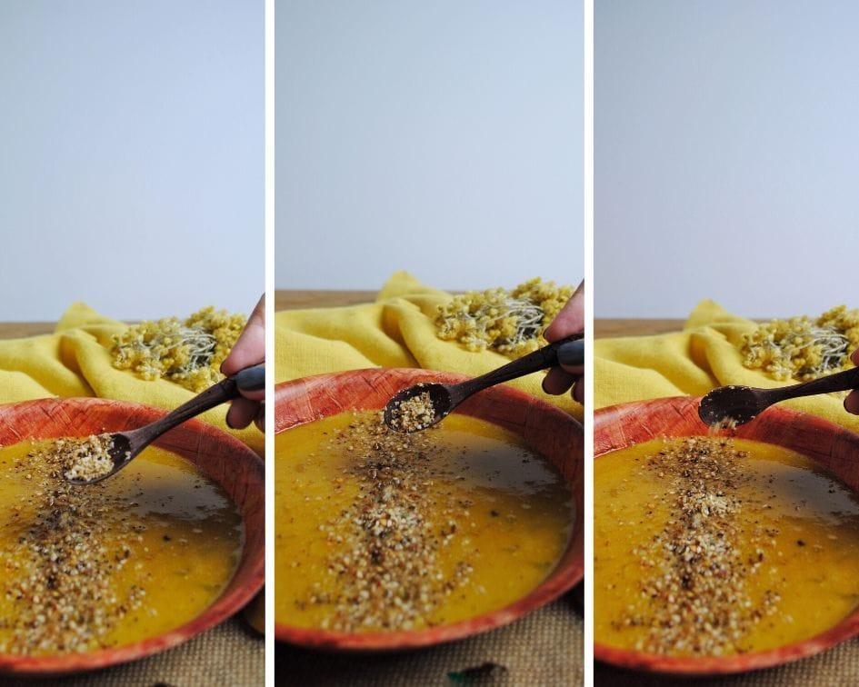 Dukkah, mezcla de especias y frutos secos egipcia