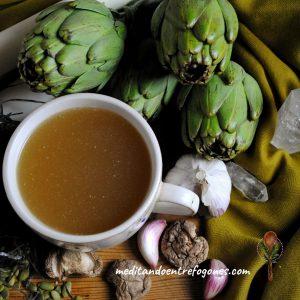 caldo de verduras especiado
