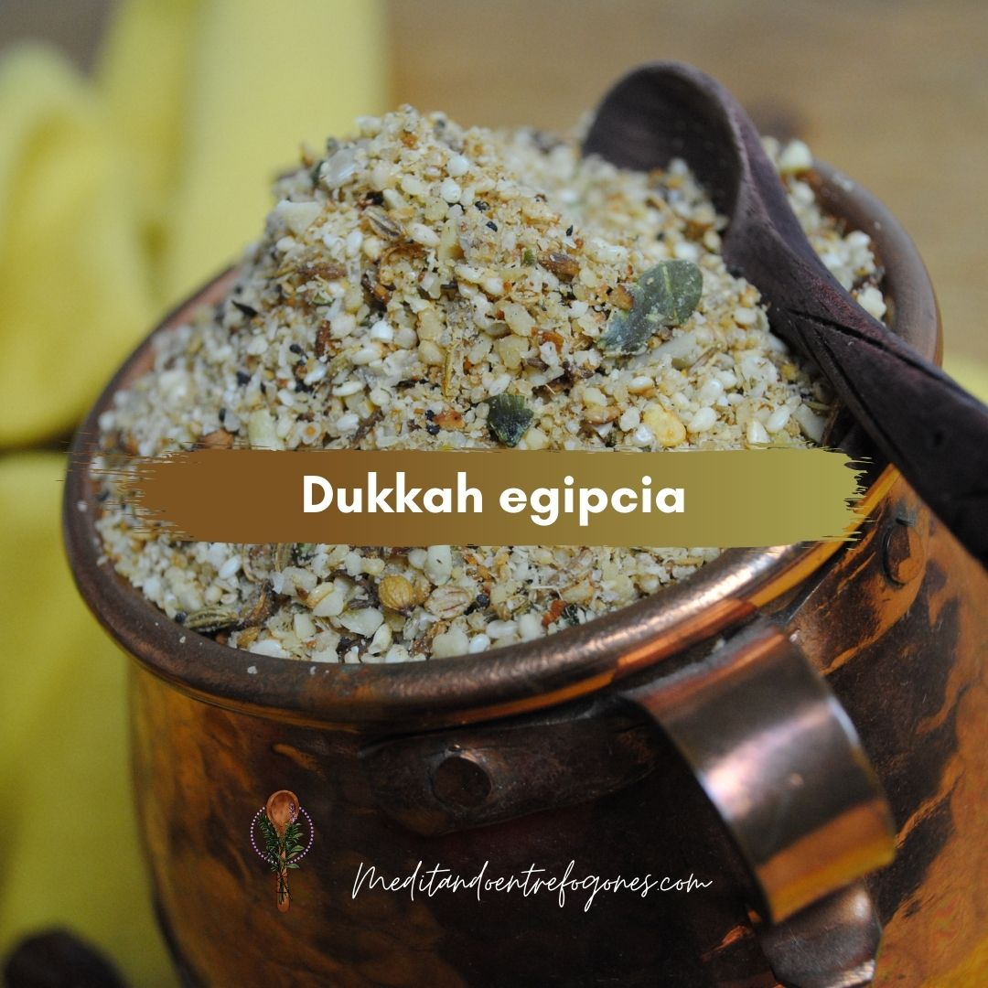 Dukkah egipcia: mezcla de especias y semillas