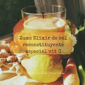 "Zumo ""Elixir de sol"" reconstituyente especial vitamina C"