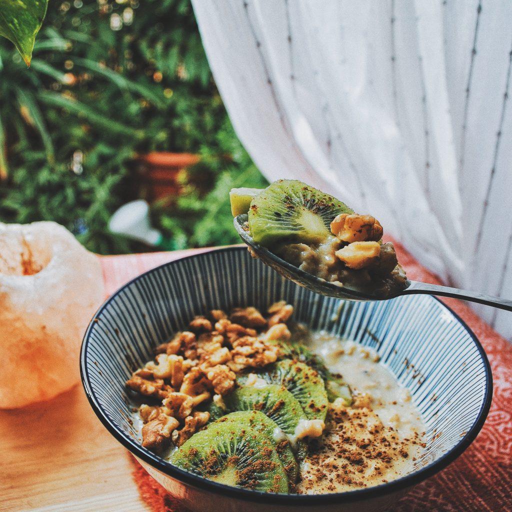 porridge de avena , vainilla y canela